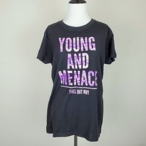 Tops - Fall Out Boy Black Young and Menace Band Tee